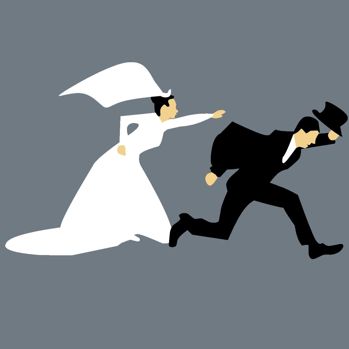 זוג לאחר חתונה