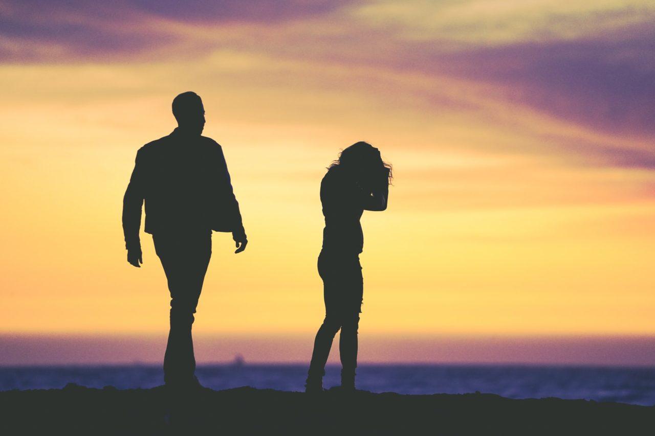 זוג בפרידה לפני גירושין - אילוסטרציה