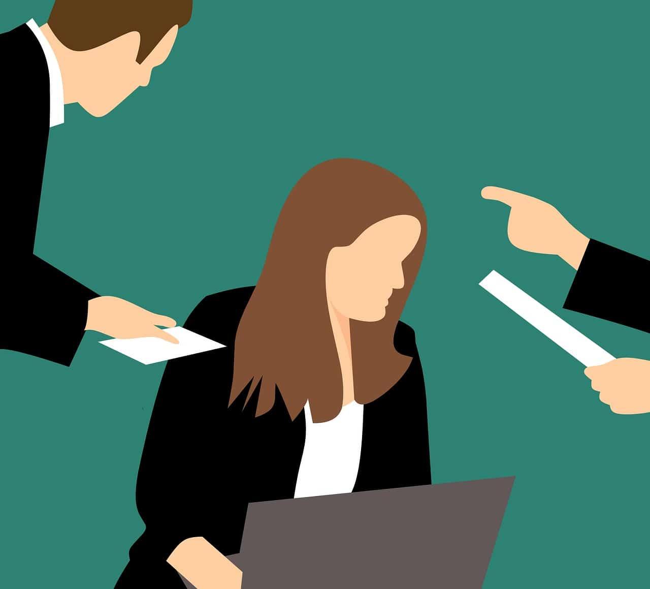 הטרדה בעבודה של אישה