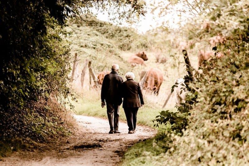 זוג מבוגרים בפנסיה